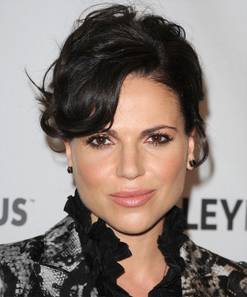 Lana Parrilla Long Curly Formal Updo Hairstyle With Side