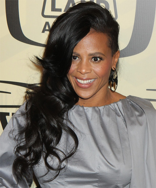 Laurieann Gibson Long Wavy Casual Hairstyle Black Hair Color