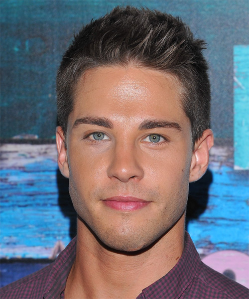 Dean Geyer Short Straight Casual Hairstyle Dark