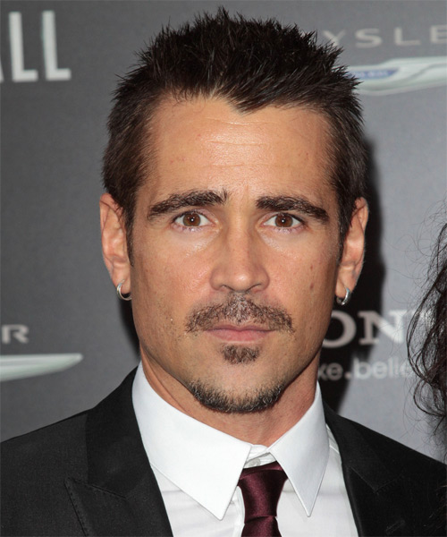 Colin Farrell Short Straight Casual Hairstyle Dark