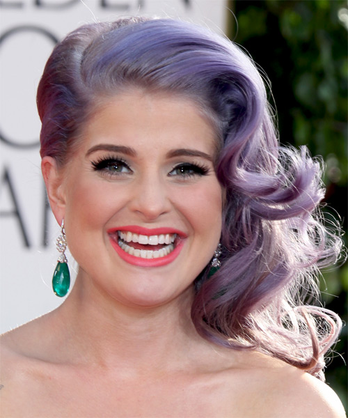 Kelly Osbourne Medium Curly Formal Updo Hairstyle