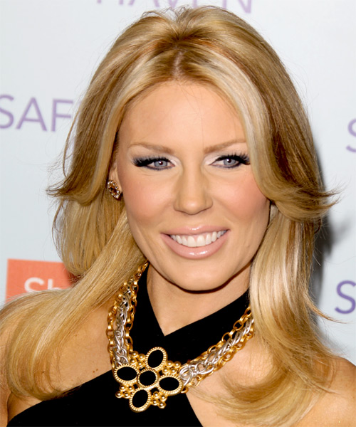 Gretchen Rossi Long Straight Casual Hairstyle Honey