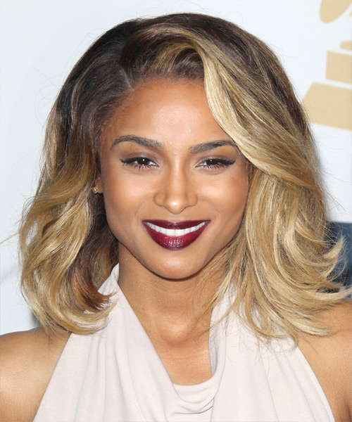 Ciara Medium Straight Casual Hairstyle Brunette And