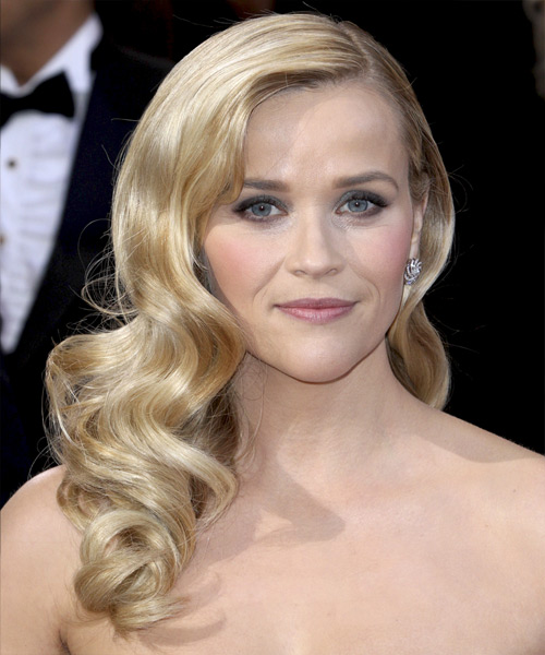 Reese Witherspoon Long Wavy Formal Hairstyle Light
