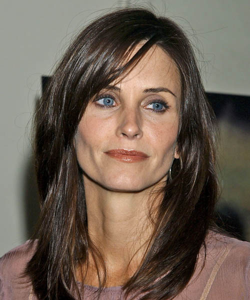 Courteney Cox Long Straight Casual Hairstyle