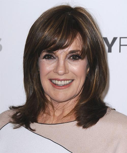 Linda Gray Medium Straight Formal Hairstyle