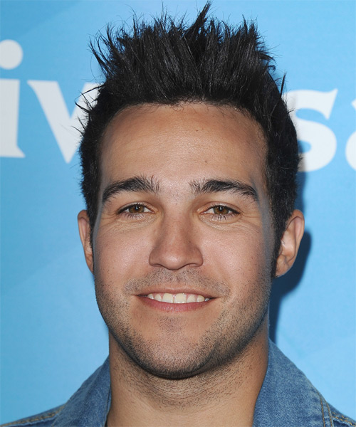 Pete Wentz Short Straight Casual Emo Hairstyle Black