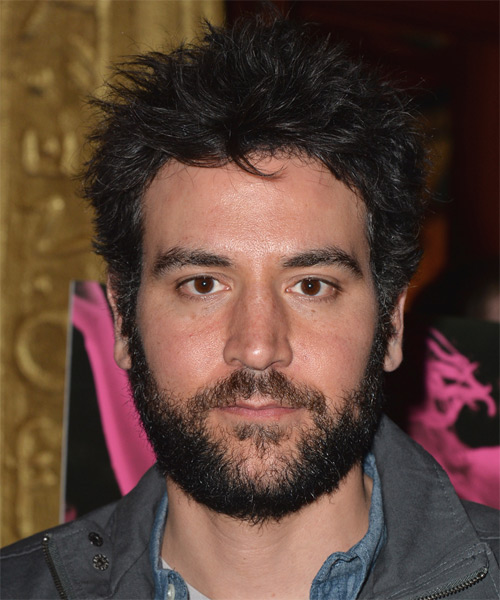Josh Radnor Short Straight Casual Hairstyle Black Hair Color