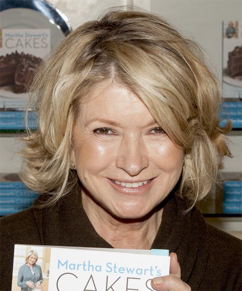 Martha Stewart Medium Straight Casual Hairstyle Blonde