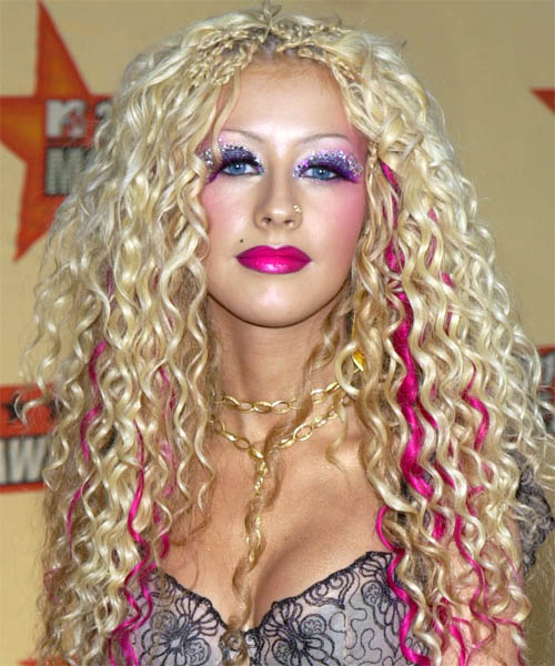 Christina Aguilera Long Curly Alternative Hairstyle