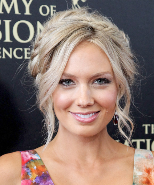 Melissa Ordway Casual Long Curly Braided Updo Hairstyle