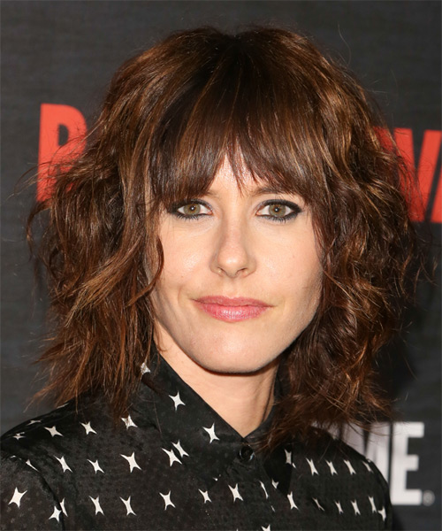 Katherine Moennig Medium Wavy Casual Hairstyle With