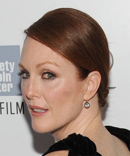 Julianne Moore Long Straight Formal Updo Hairstyle