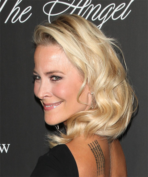 Brittany Daniel Long Wavy Formal Hairstyle Light Golden