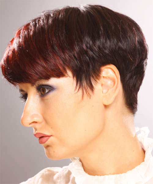 Short Straight Formal Hairstyle With Layered Bangs