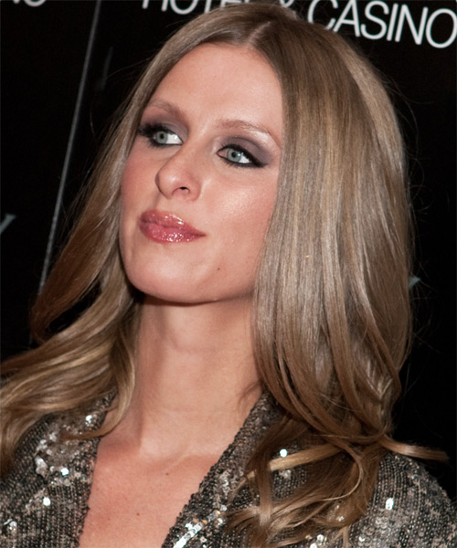 Nicky Hilton Long Straight Casual Hairstyle Chestnut