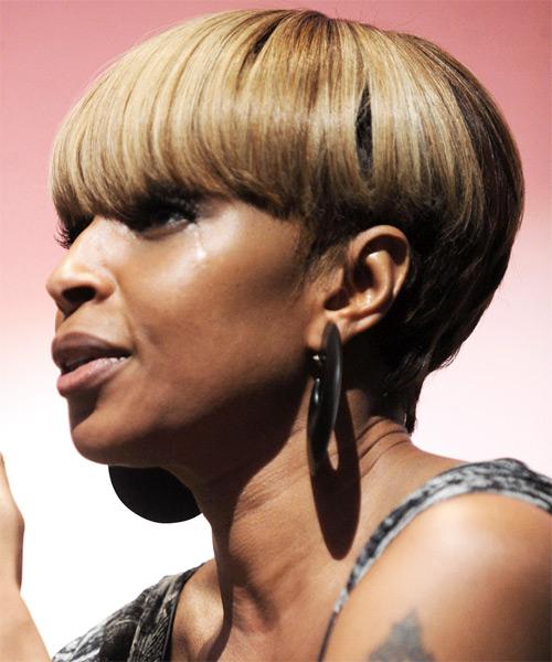 Mary J Blige Alternative Short Straight Hairstyle