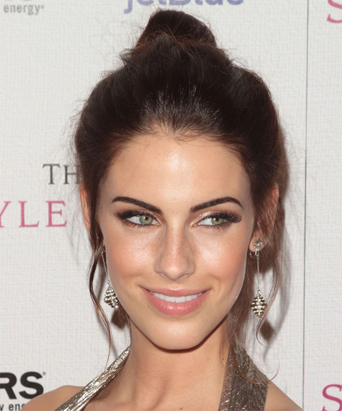 Jessica Lowndes Long Straight Casual Updo Hairstyle