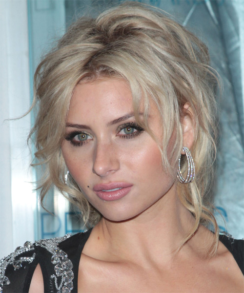 Alyson Michalka Casual Long Curly Updo Hairstyle Light
