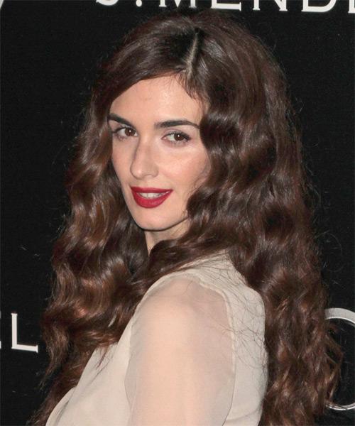 Paz Vega Long Wavy Casual Hairstyle Auburn Brunette Hair