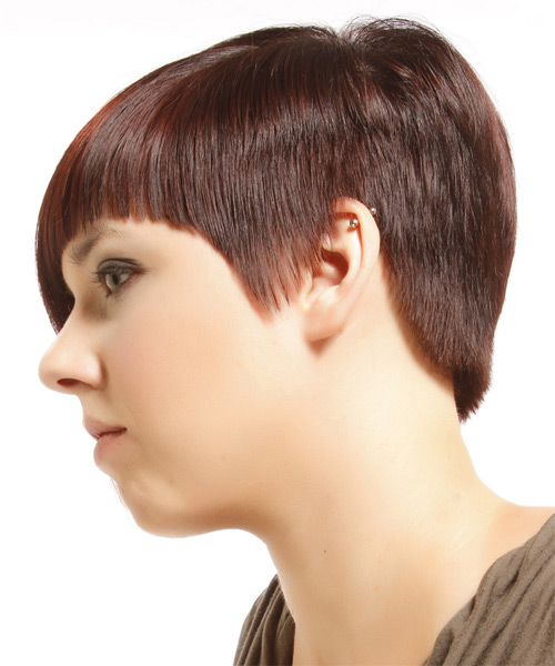 Short Straight Alternative Asymmetrical Hairstyle With