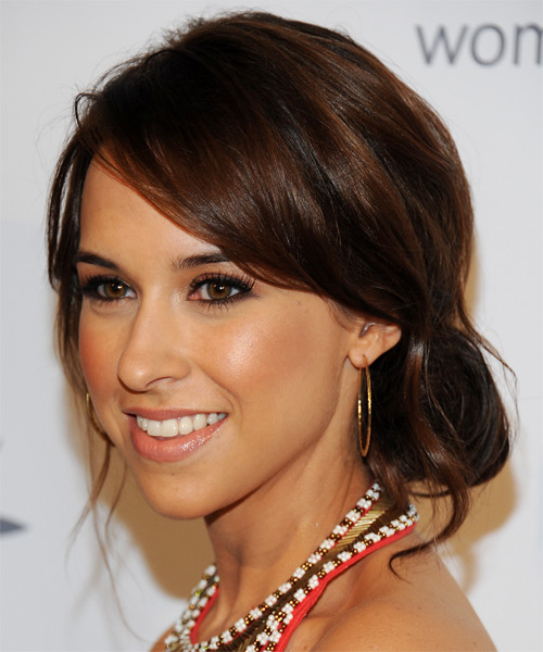 Lacey Chabert Long Straight Casual Updo Hairstyle With