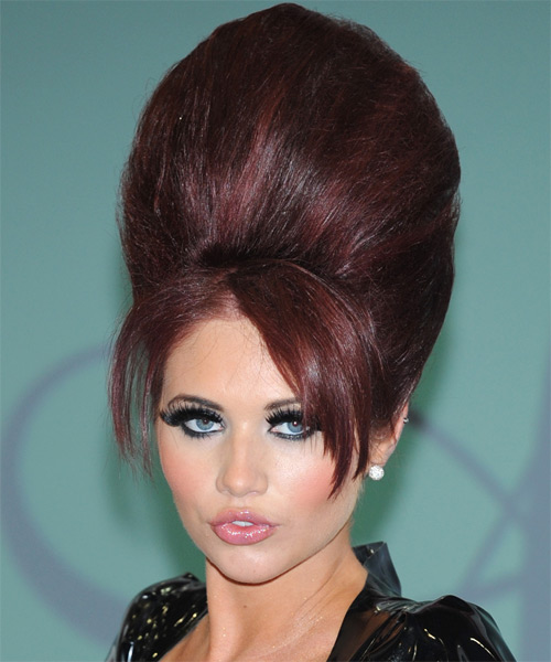 Amy Childs Long Straight Alternative Emo Updo Hairstyle