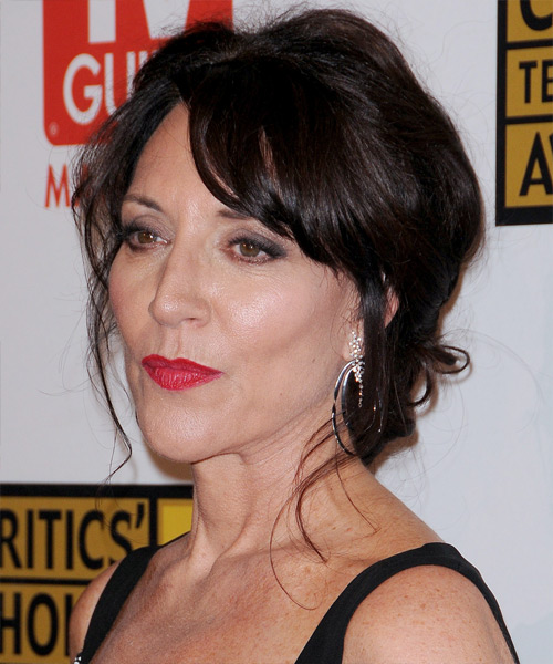 Katey Sagal Long Curly Casual Updo Hairstyle With Side