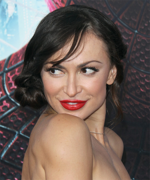 Karina Smirnoff Straight Formal Updo Hairstyle With Side