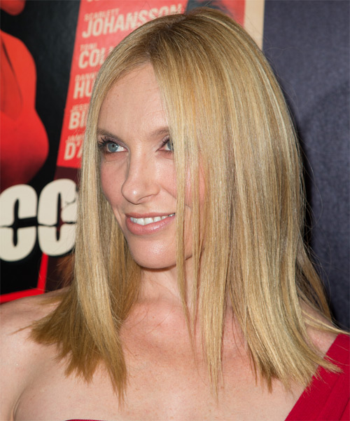 Toni Collette Medium Straight Formal Hairstyle Honey