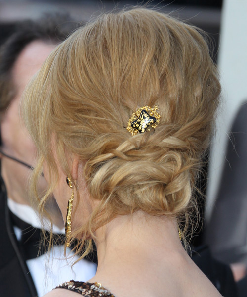 Nicole Kidman Long Curly Formal Updo Hairstyle Light