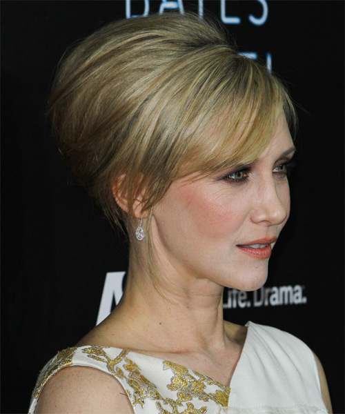 Vera Farmiga Formal Long Straight Updo Hairstyle Ash