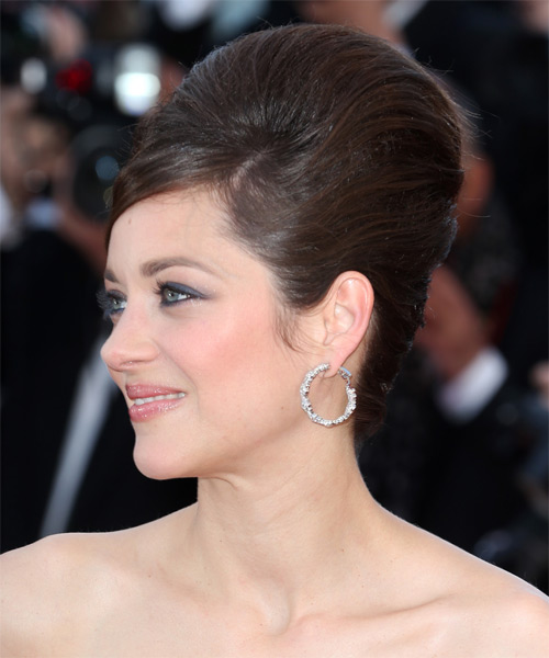 Marion Cotillard Long Straight Formal Updo Hairstyle