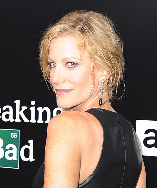 Anna Gunn Long Curly Casual Half Up Hairstyle