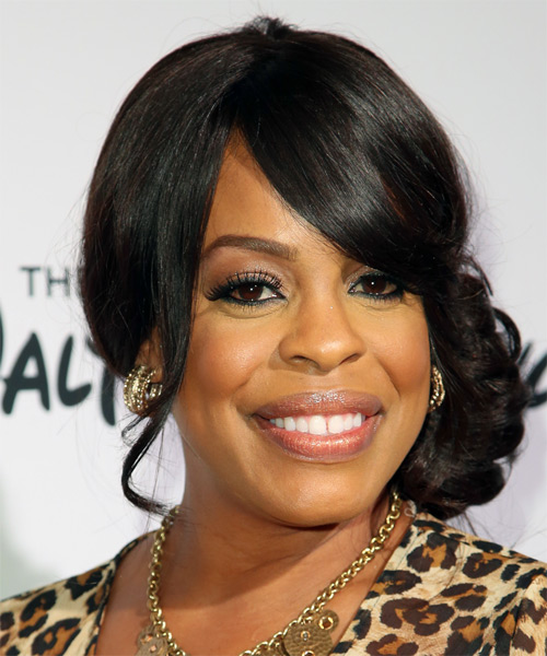 Niecy Nash Long Curly Formal Updo Hairstyle With Side