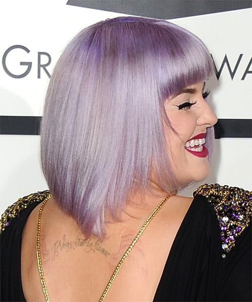 Kelly Osbourne Medium Straight Formal Bob Hairstyle With