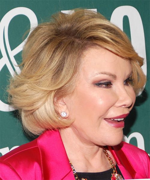 Joan Rivers Short Straight Formal Hairstyle With Side