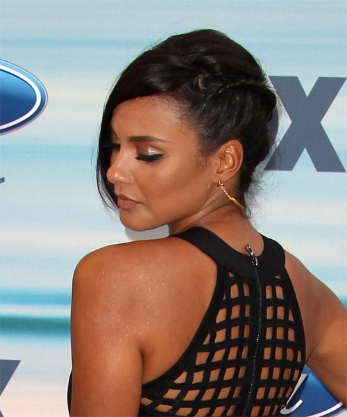 Jessica Lucas Long Straight Formal Updo Hairstyle With