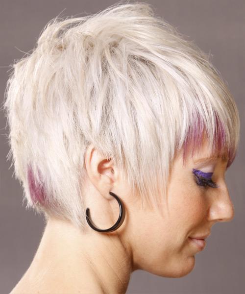 Short Straight Alternative Hairstyle Light White Blonde