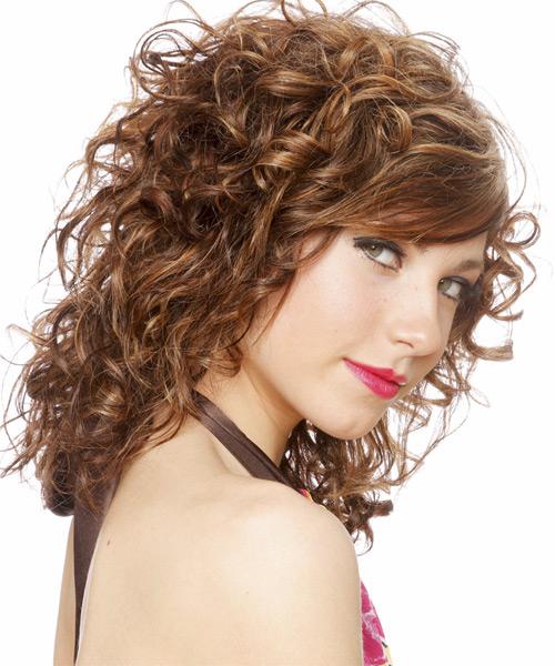 Long Curly Formal Hairstyle Light Chestnut Brunette Hair
