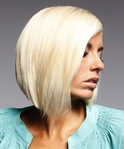 Medium Straight Formal Layered Bob Hairstyle Light