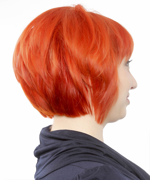 Short Straight Casual Bob Hairstyle With Blunt Cut Bangs
