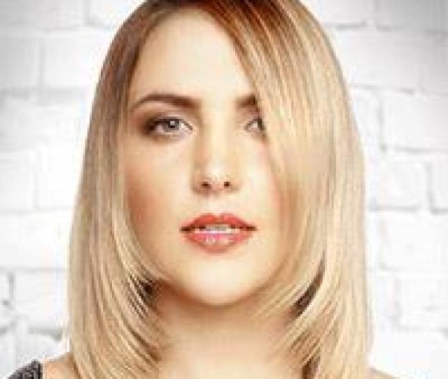 Medium Straight Formal Bob Hairstyle Light Blonde Hair Color