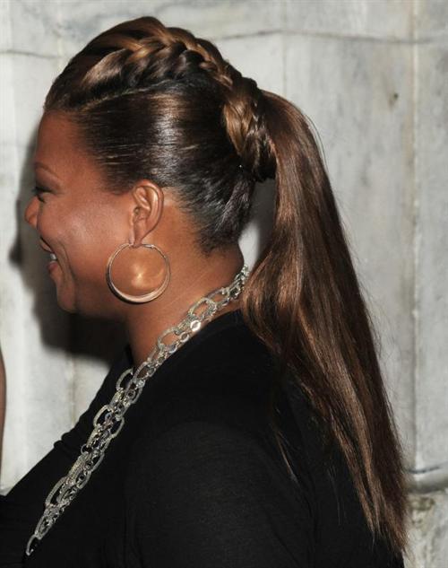 Queen Latifah Ponytail Hairstyles