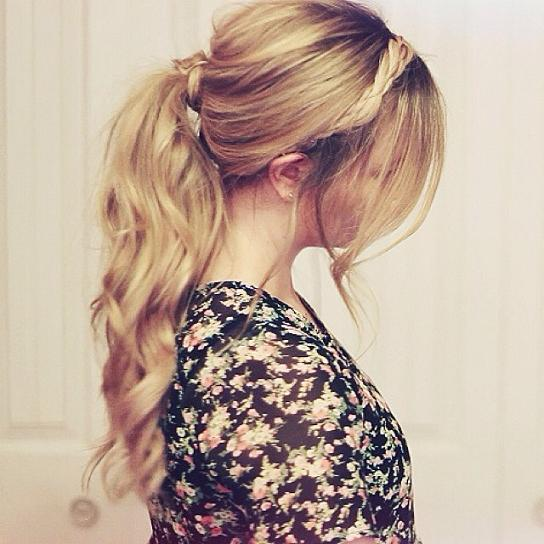 Messy Ponytail Braided Crown Hairstyles How To