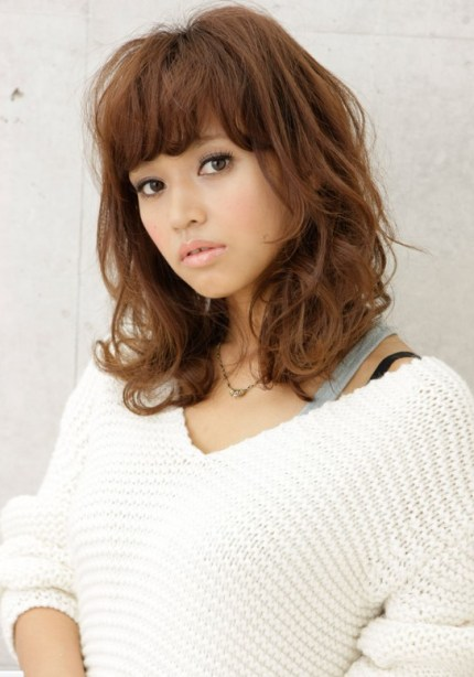 curly Japanese hairstyle 2012