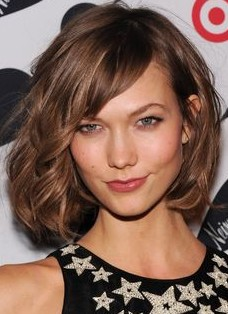 Hairstyle with Side Swept Bangs