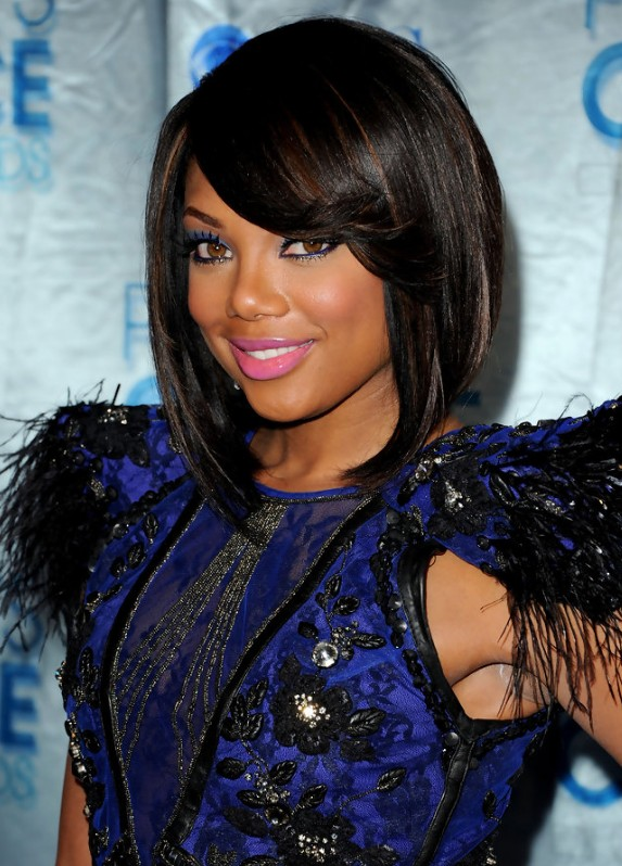 2013 African American Black Bob Hairstyle
