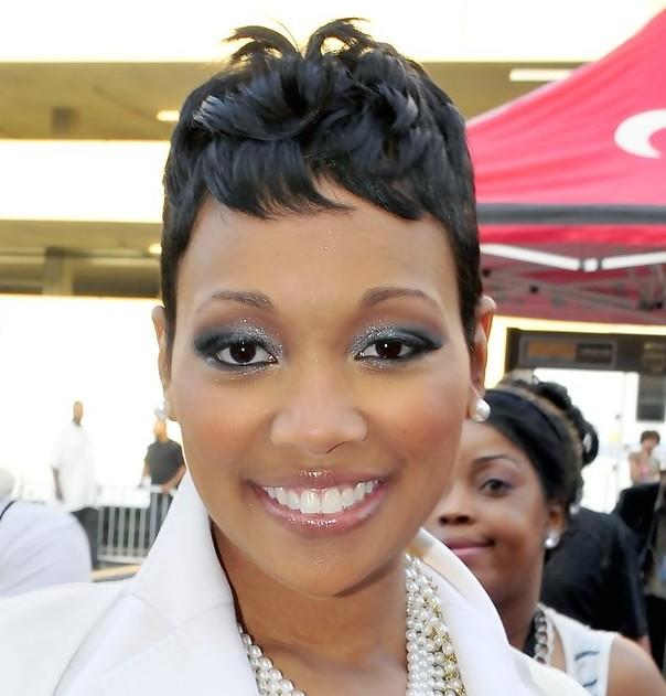 African American Short Black Wavy Hairstyle 2013