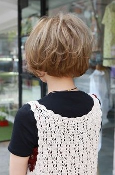 Back View of Short Korean Hairstyle